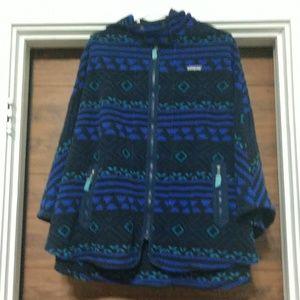 Patagonia hooded fleece poncho (M/L)